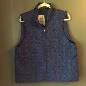 Coach Quilted Signature C Zip Vest